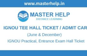 IGNOU TEE Hall Ticket-Admitcard