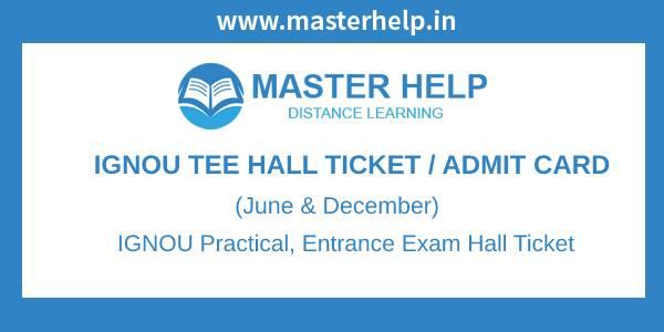 IGNOU TEE Hall Ticket-Admitcard