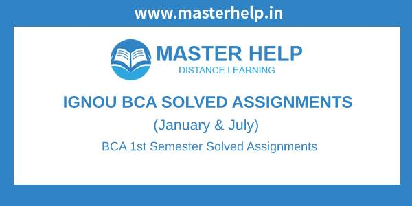 Ignou BCA 1st Semester Solved Assignment
