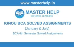Ignou BCA 6th Semester Solved Assignment