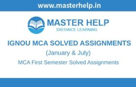 Ignou MCA 1st Semester Solved Assignment