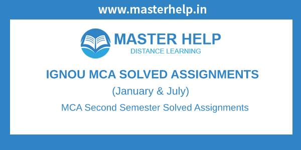 Ignou MCA 2nd Semester Solved Assignment