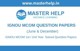 IGNOU MCOM Question Papers