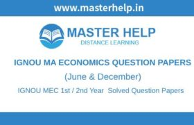 IGNOU MEC Question Papers