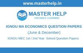 IGNOU MEC Question Papers