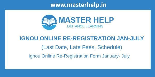 IGNOU Online Re-Registration