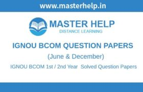 IGNOU BCOM Question Papers