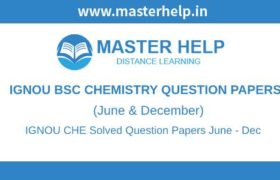 IGNOU BSC Chemistry Question Papers