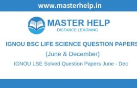 IGNOU LSE Question Papers