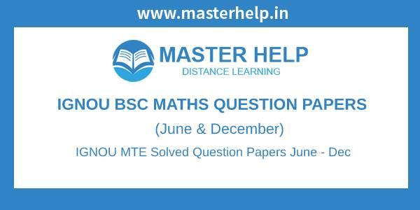 IGNOU MTE Question Papers