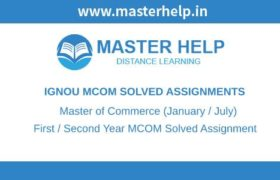 Ignou MCOM Solved Assignment