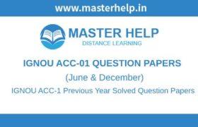 IGNOU ACC-1 Question Papers