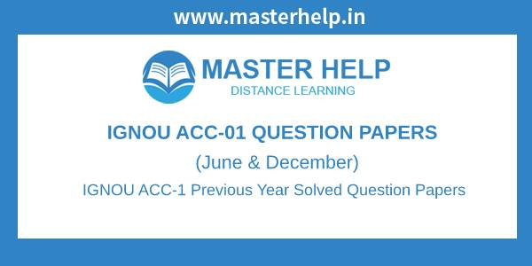 IGNOU ACC-1 Question Papers