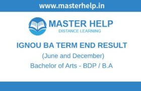 Ignou BA Term End Result
