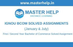 Ignou BCOM Solved Assignments