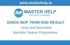 Ignou BDP Term End Result