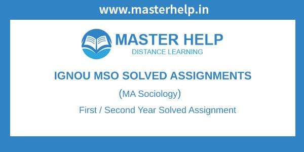Ignou MSO Solved Assignment