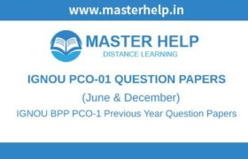 IGNOU PCO-1 Question Papers