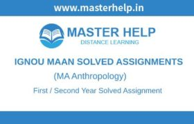 Ignou MAAN Solved Assignment