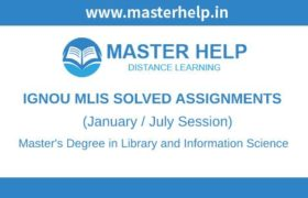 Ignou MLIS Solved Assignment