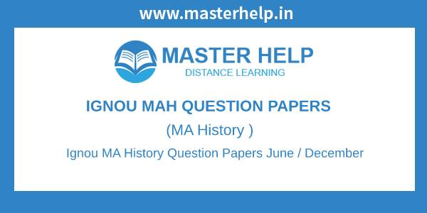 Ignou MA History Question Papers