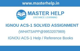 IGNOU ACS-1 Solved Assignment