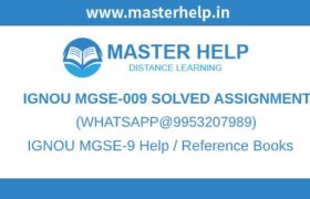 IGNOU MGSE9 Solved Assignment