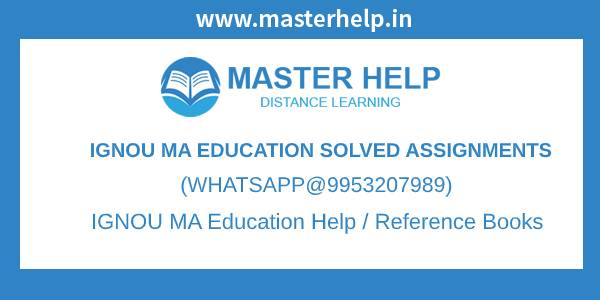 IGNOU MA Education Assignments
