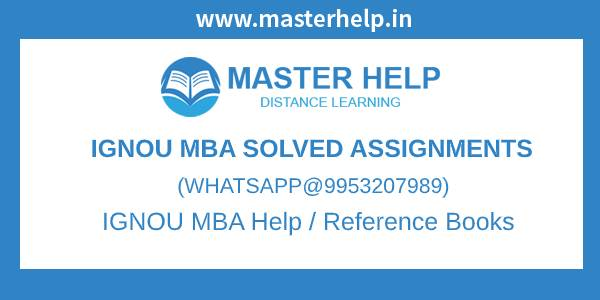 IGNOU MBA Assignment