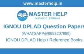 IGNOU DPLAD Question Paper