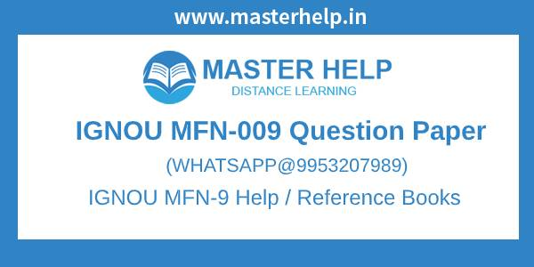 IGNOU MFN-9 Question Paper