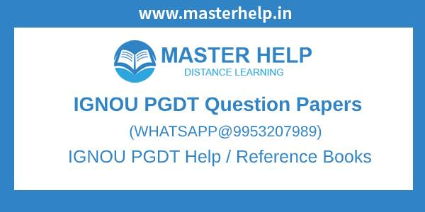 IGNOU PGDT Question Papers
